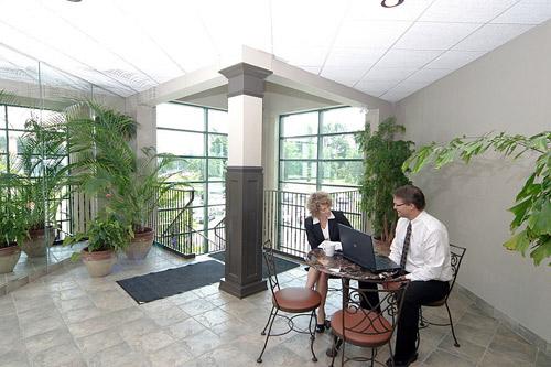 meeting in atrium